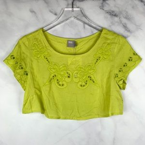 🔥NWT ASOS Floral Embroidered Soft Crop Top Boho S